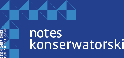 Start: Notes Konserwatorski, ISSN 2657-3083, DOI 10.36155/NK